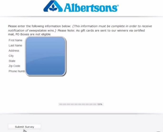 Albertsons Survey feedback