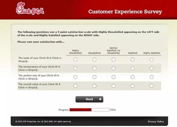 Chick-fil-A survey process