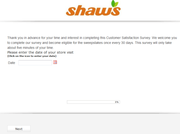 Shaws Customer survey