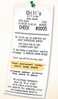 chillis survey code