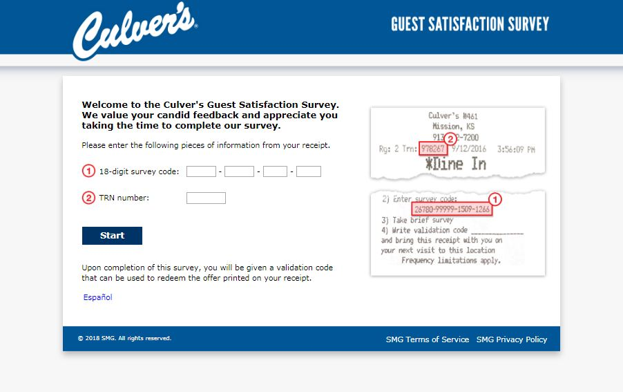 culvers survey guide