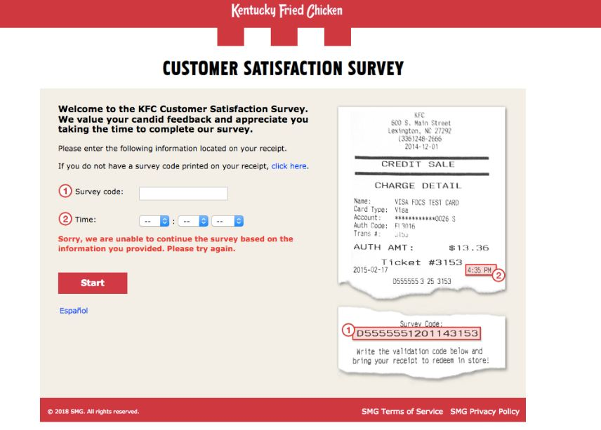 kfc experience survey process