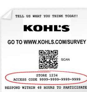 kohlls survey code