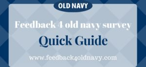old navy survey feedback