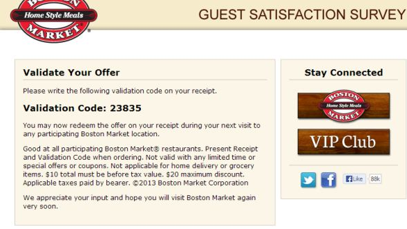boston market survey