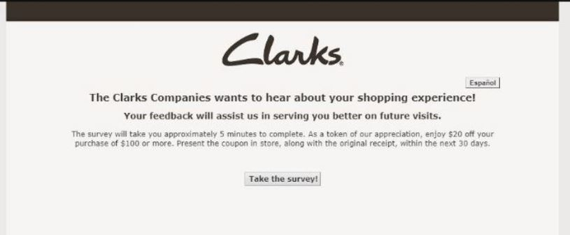 clarks feedback survey
