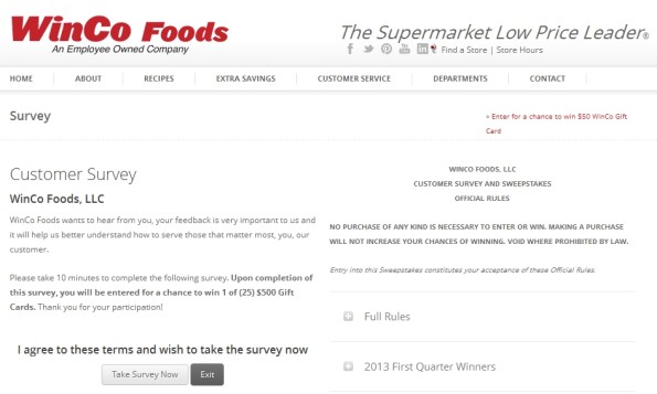 wincofood customer survey