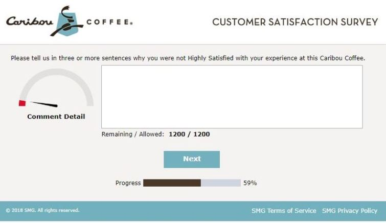 Tell Caribou Coffee Survey
