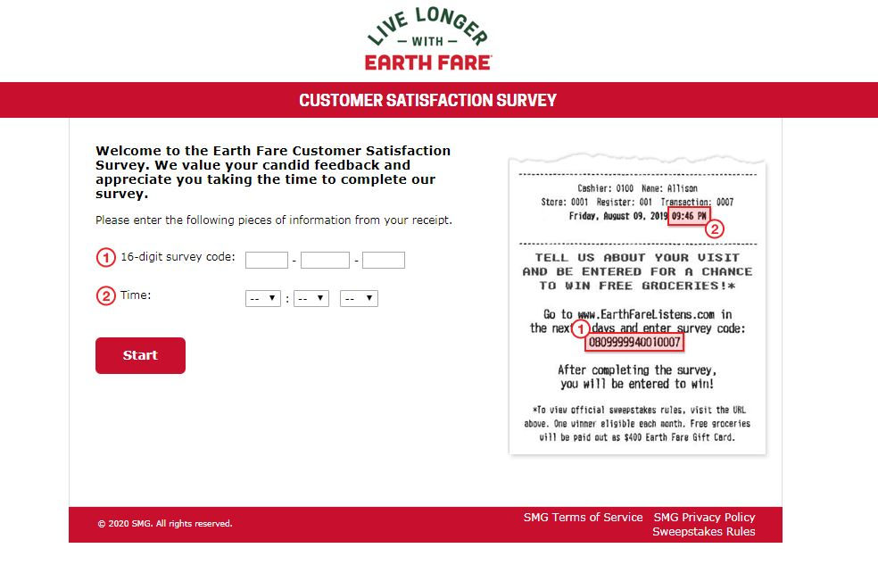 Earth Fare Survey