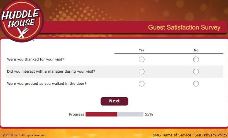 Huddle House Care Survey